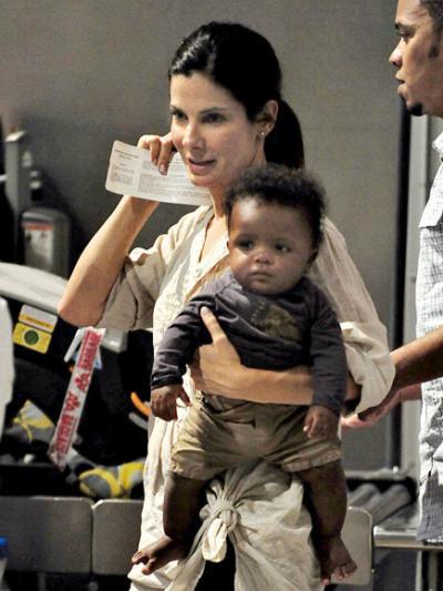Sandra Bullock Son Safe : Sandra Bullock raising black child