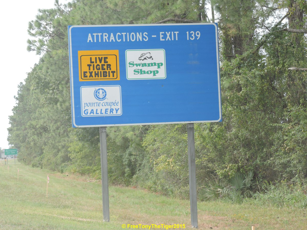 #StartTheConvo Driving down I-10 seeing signs 4 LIVE #TIGER EXHIBIT #justwrong #FreeTonyTiger http://t.co/f9LVMpKeZc http://t.co/yPXSUKMd3q