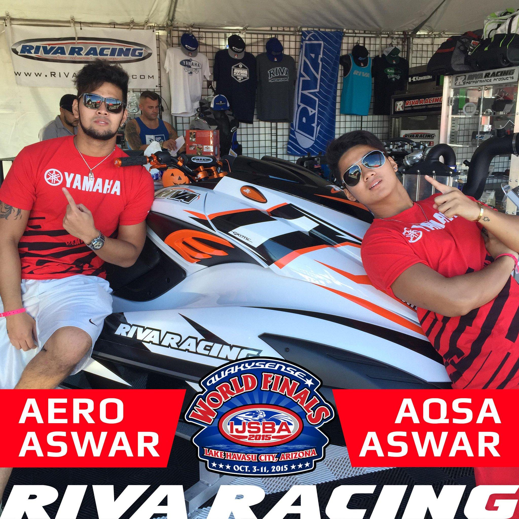 "RIVA RACING on Twitter ""Aero Aswar and Aqsa Aswar loving our new"