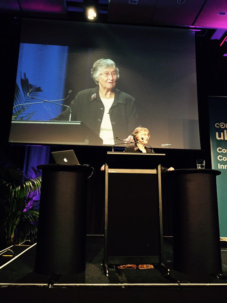 Our second keynote, Dr Ann Lieberman #ulearn15 - teachers at the heart of professional change http://t.co/SgQTPW9RI2