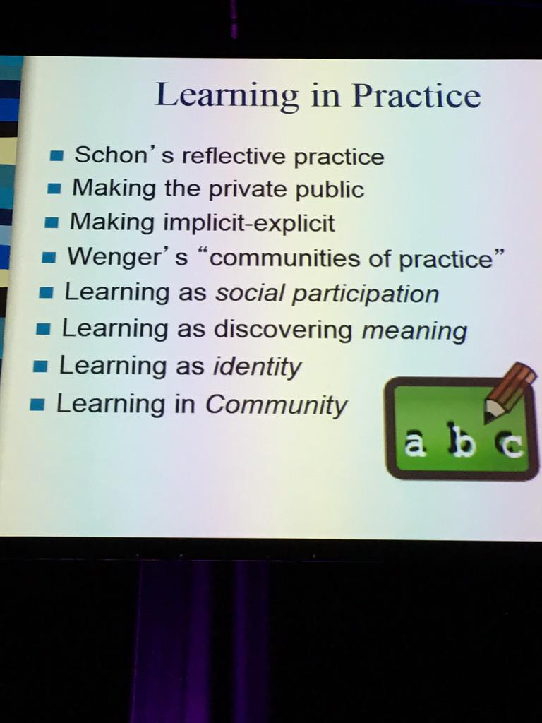 Important stuff! #ulearn15 http://t.co/aQRhroyV4S