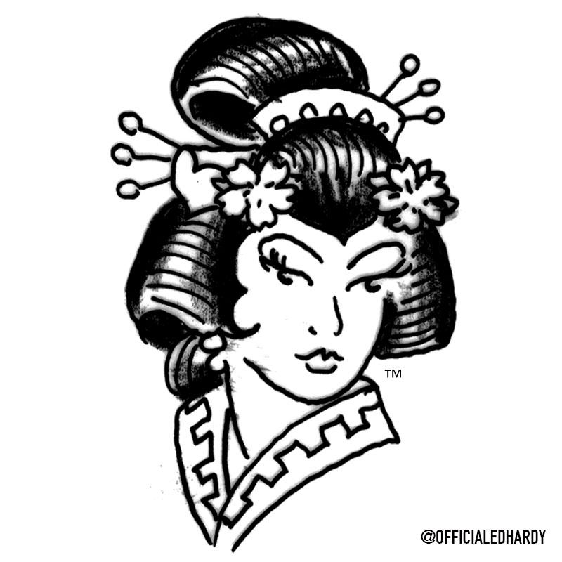 "From the #DonEdHardy Vault: ""Geisha"" 