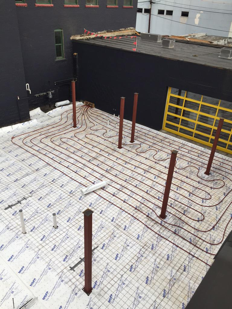 Deep South Taco On Twitter Our Crew Is Installing The Floor Heating System For Patio You Read That Correctly Heated