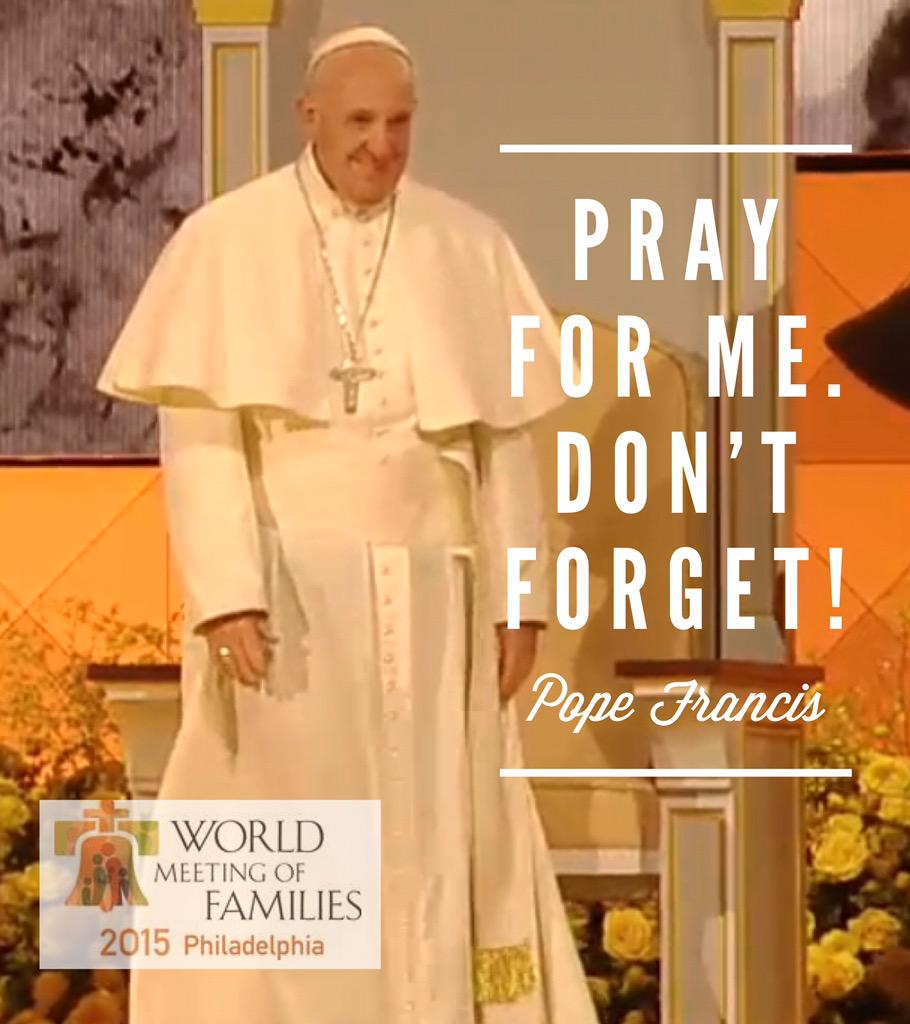 Quotes from Pope Francis #WisdomWednesday #PopeInPhilly - share your favorites today! #PopeInUS http://t.co/hMZG1PqQLt
