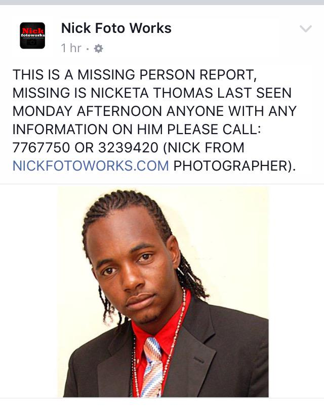 If you've seen/heard from Nick. Please contact me or the numbers in the pic. RT please!!! http://t.co/7oS1aQvD5U