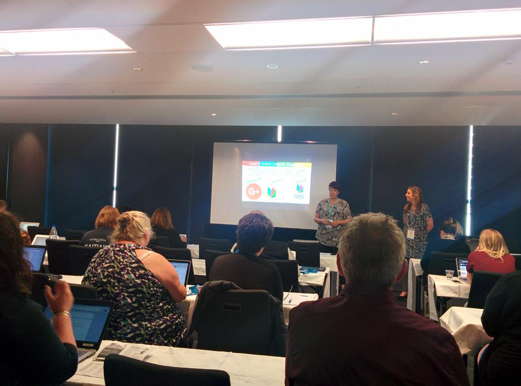 #GEGNZ RT @kehall16: Great to see the @GEG_NZ team rocking #ulearn15 @digitallearnin @FionaGrant http://t.co/cgOfzUhAy2