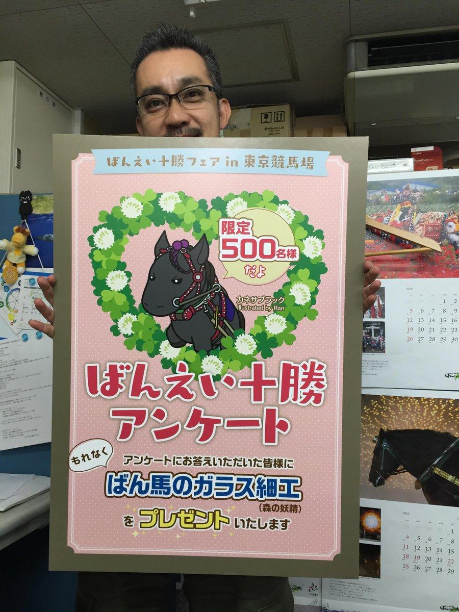 パネル完成〜!10/10(土)〜12(祝・月)東京競馬場正門前特設会場でお待ちしております。パドックの側、京王線駅方面です!アンケートにお答えいただいた皆様にこれをプレゼントします!(限定500名様) http://t.co/1gfFbxWmws