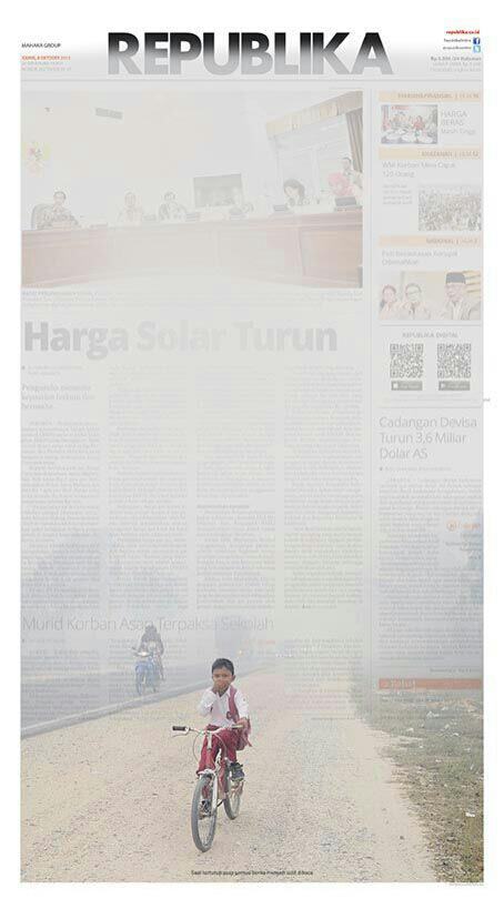 Republika covers their front page with haze. http://t.co/1vWuxN1uxy