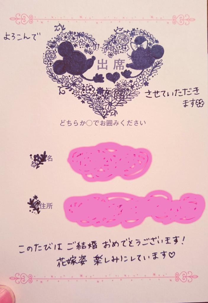 Tweet 芸術的結婚式招待状の返信イラストアート集ジブリ