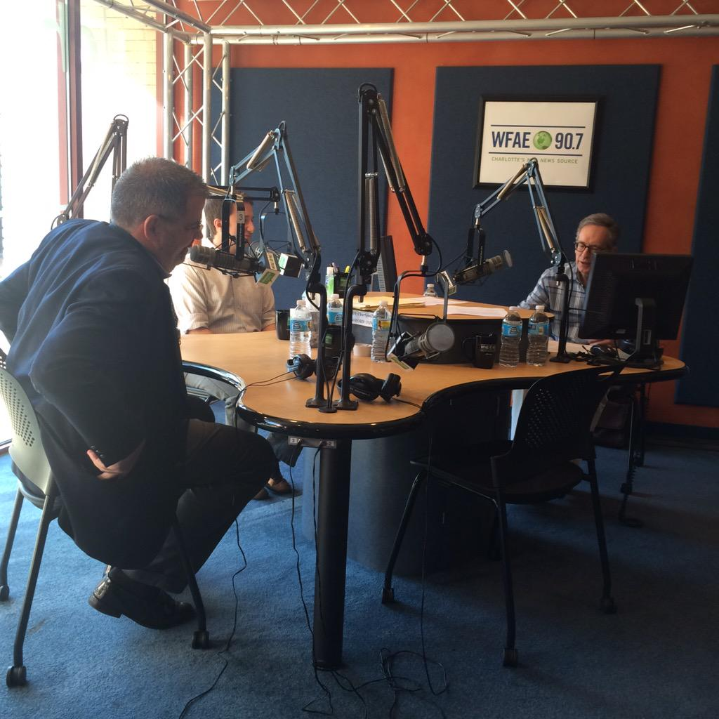 Mike Collins interviews Robert Corbin and Jim Smith for Charlotte Talks on WFAE.