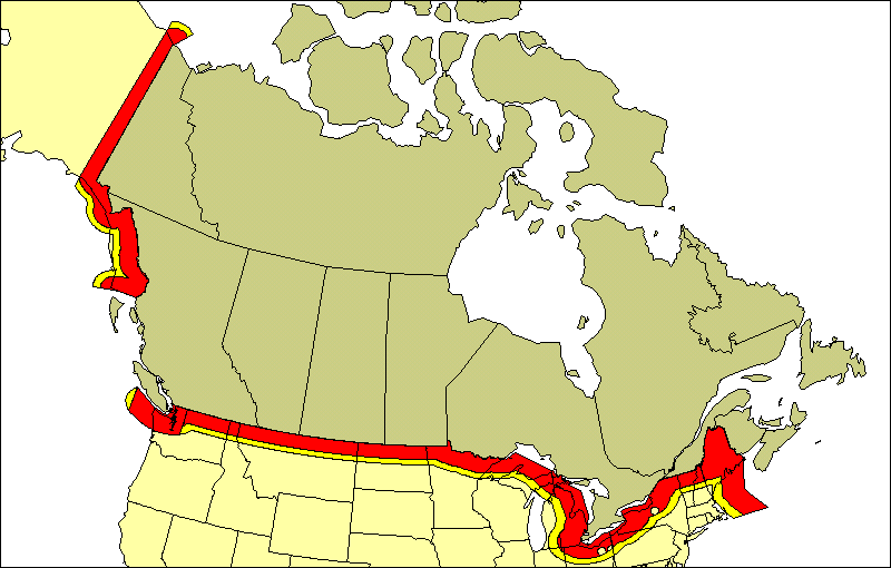 The World On Twitter The US Canada Border Is The Longest - Us canada border map
