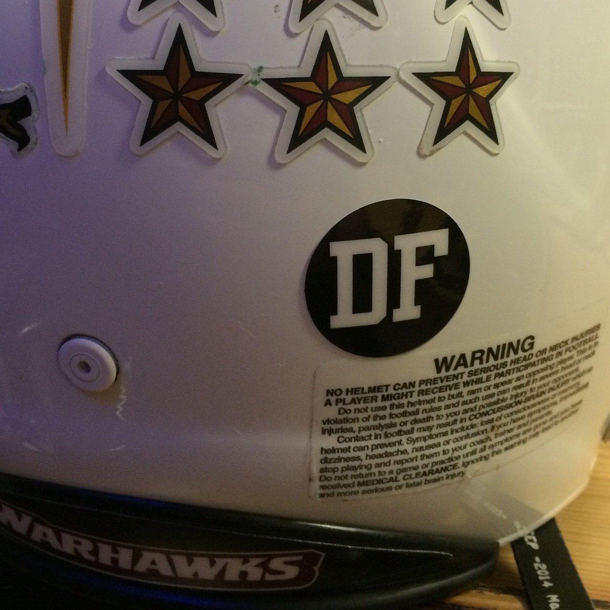 . @ULM_FB will wear this sticker on helmets for remainder of season to honor Daniel Fitzwater. http://t.co/3MwFZ70EXr