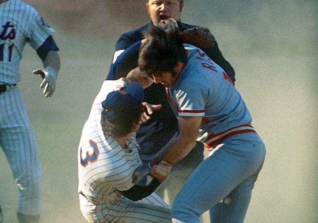 """Super 70s Sports on Twitter: """"Today in 1973, the Reds and Mets brawl at  Shea Stadium after Pete Rose and Bud Harrelson tussle at second base.  http://t.co/nn2TD6ebjC"""""""