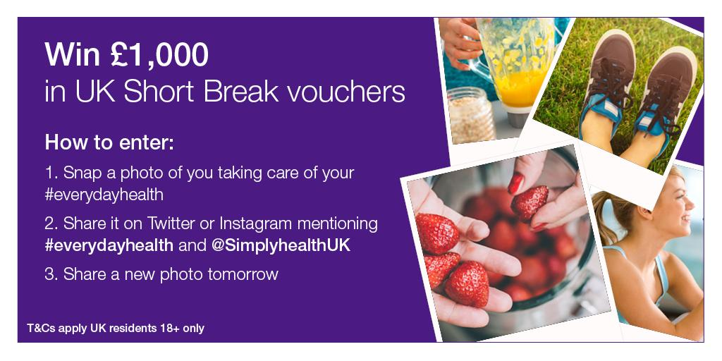 Show us your #everydayhealth and #win. T&Cs http://t.co/3cghTsl4Jo  UK residents 18+ only. Ends 11pm 18/10/15. http://t.co/eVvQSiDjxL