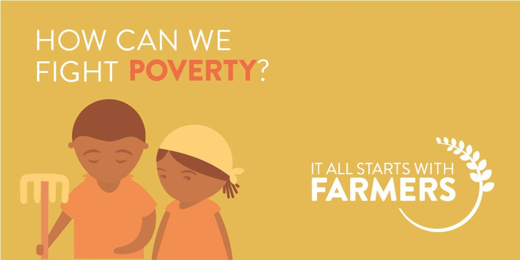 The majority of the world's poorest people depend on agriculture. Fighting poverty #StartsWithFarmers #WFD2015 http://t.co/VzPt9KGBQu