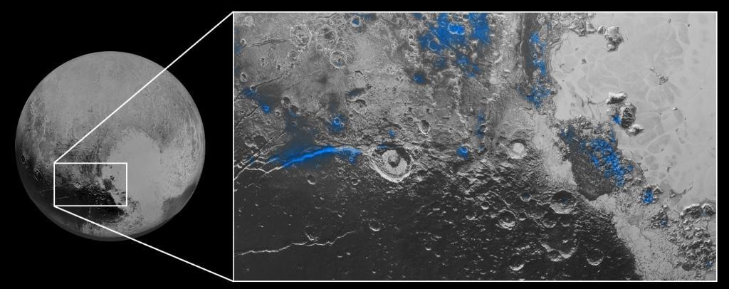 Acqua ghiacciata su Plutone.
