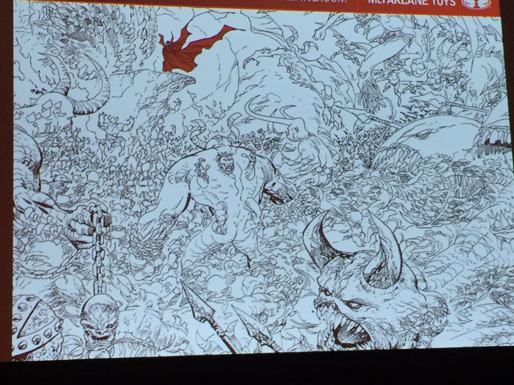 .@Todd_McFarlane announces partnership with @ErikJLarsen on Spawn as on issue 258. #NYCC2015 http://t.co/sgF7nL0uxB