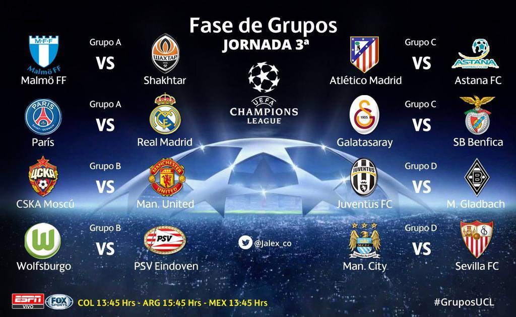Uefa Champions League 2015/2016: Bayern Múnich, Leverkusen, Mönchengladbach y Wolfsburgo CR0IIFhW0AIukiu