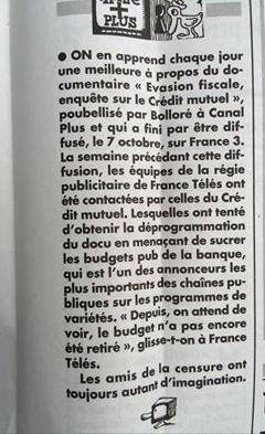 Le Crédit Mutuel aurait menacé France Télévision de lui sucrer son budget pub si le documentaire était diffusé: