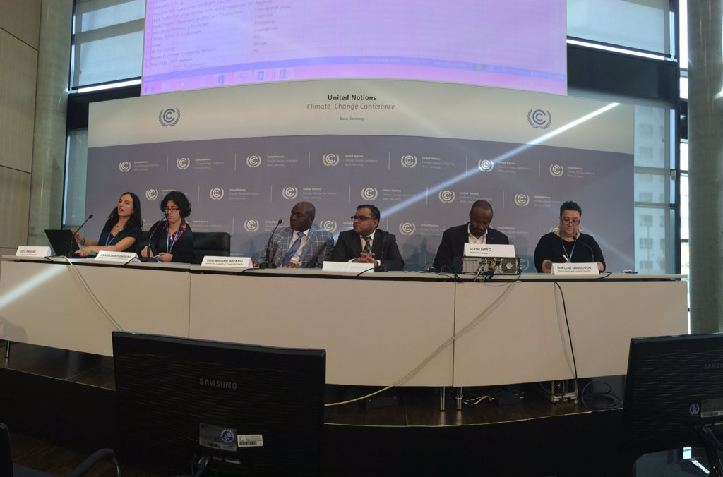AOSIS, Africa, LDCs, gender trade unions at @FoEint #adp2 press conf on #keepusintheroom https://t.co/CKq8NFrulx