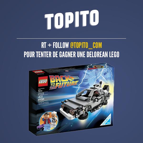 [JEU] Follow @topito_com + RT pour tenter de gagner la DeLorean #RetourVersLeFutur en #LEGO https://t.co/OdgfxXBrRy
