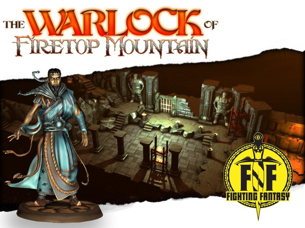If YOU love @FightingFantasy spread the word about next week's Warlock of Firetop Mountain kickstarter! #WarlockKS https://t.co/Pnu6jDhkQN