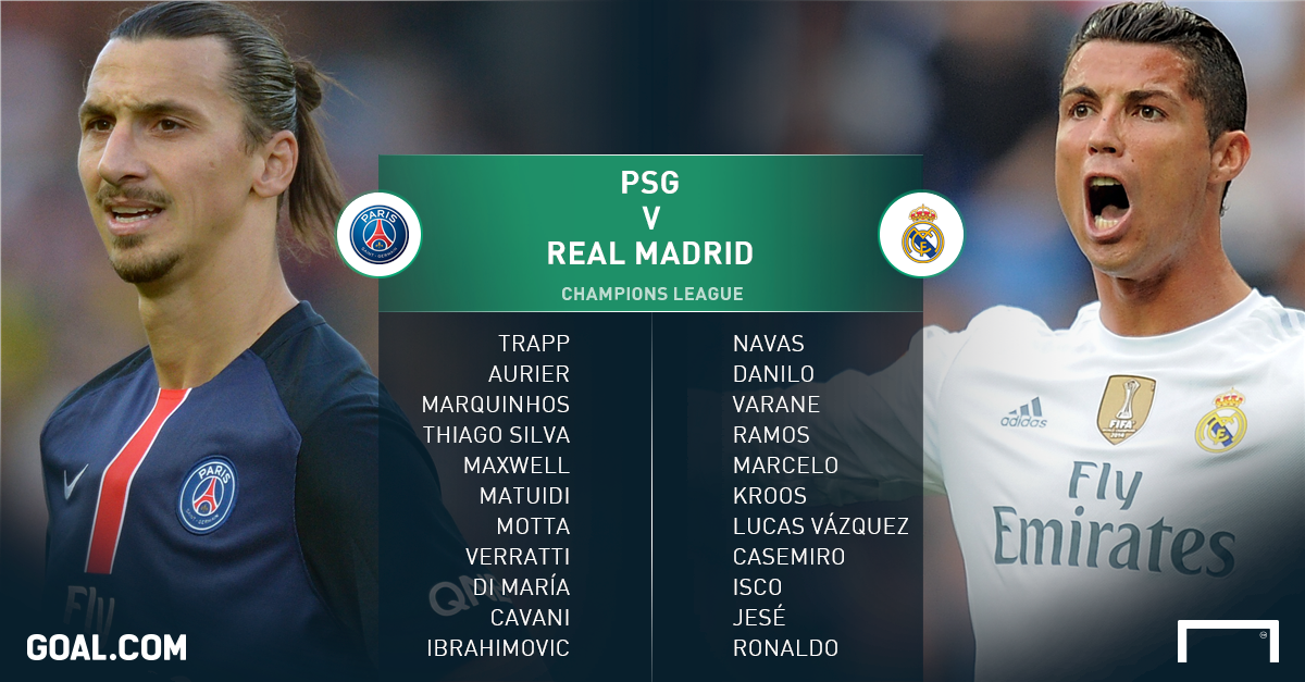 ПСЖ - «Реал»: стартовые составы