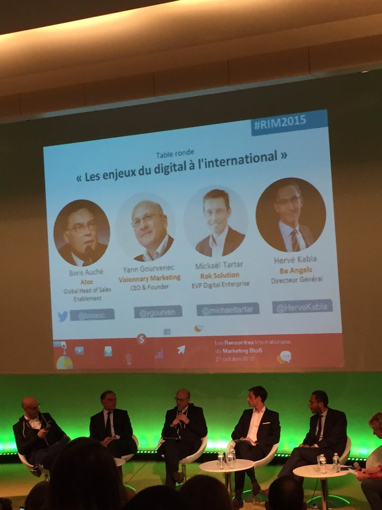@Urbanissime: Table ronde ´les enjeux du digital à l'international' #frenchtech #RIM2015 https://t.co/EbZ25IegDr