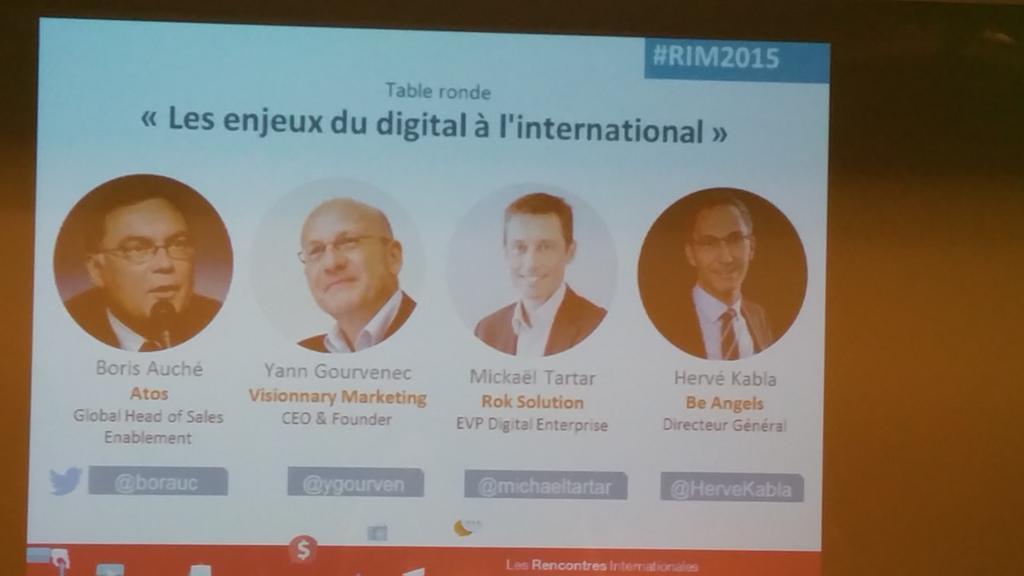 Du beau monde pour la première table ronde #RIM2015 @ygourven @michaeltartar @HerveKabla @borauc https://t.co/erNbK2Q3an