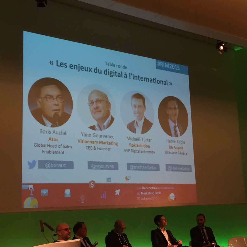 Les enjeux du digital à l'international avec @borauc @ygourven @michaeltartar @HerveKabla #RIM2015 https://t.co/9i86SRcA8V