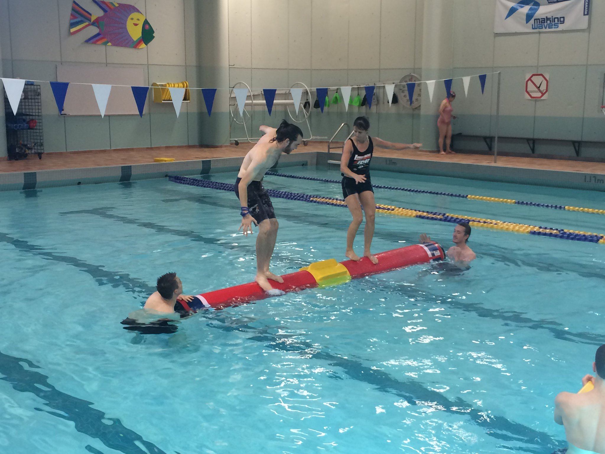 Nait Campus Rec On Twitter Check Out Our Log Rolling Challenge Tomorrow 12 30pm In The Pool