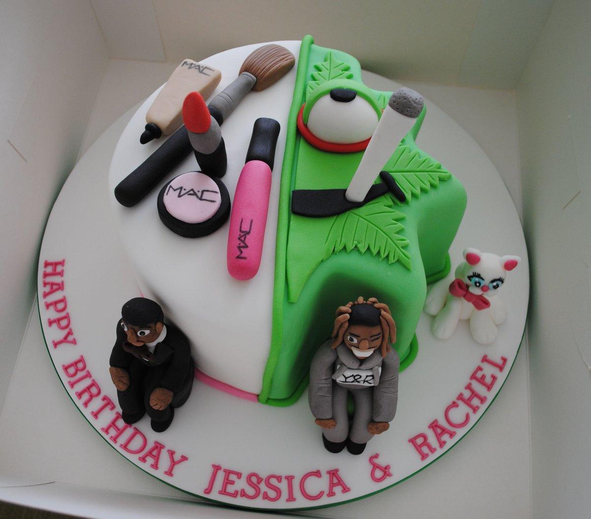 Miss Cupcakes On Twitter Half And Half Birthday Cake For Rachel