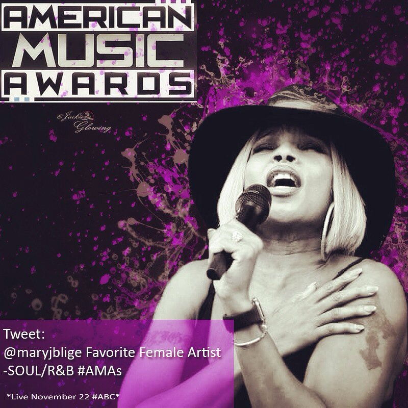 Tweet/Retweet: @maryjblige Favorite Female Artist -SOUL/R&B #AMAs✔️ https://t.co/1TKYVFhCdc