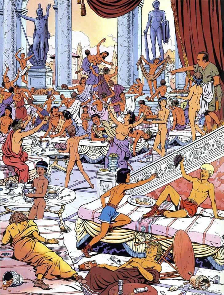 Shaking, roman orgy art work