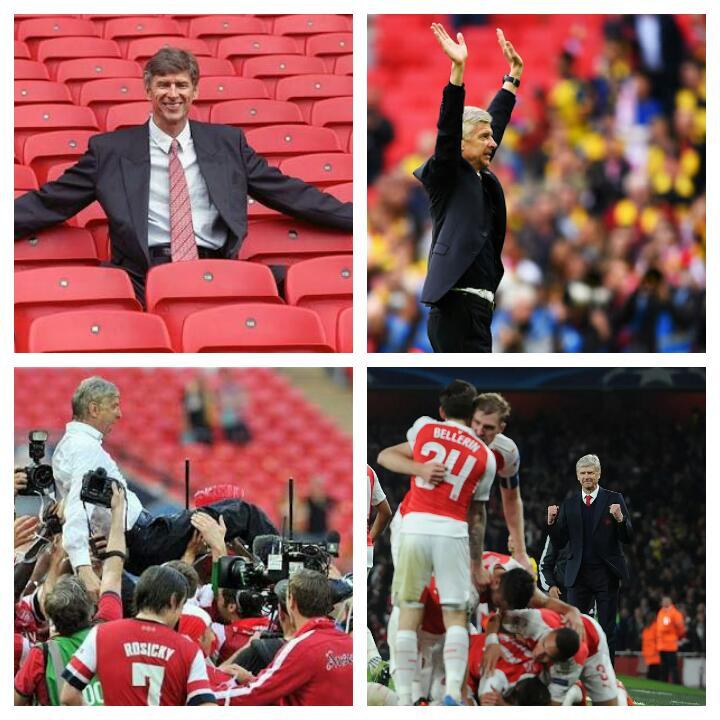 @Arsenal A Very Happy 66th Birthday to Arsene Wenger. Love him. #OneArseneWenger #Legend #HappyBirthdayArsene ❤ https://t.co/CBkVWqcMMx