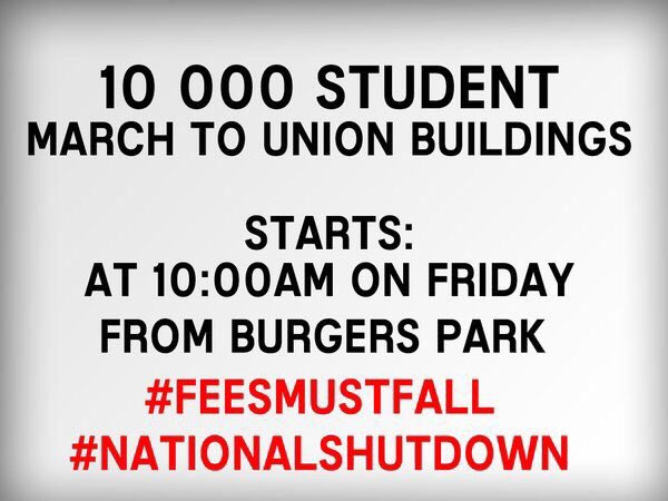 This is not a student battle anymore #FeesMustFall ✊