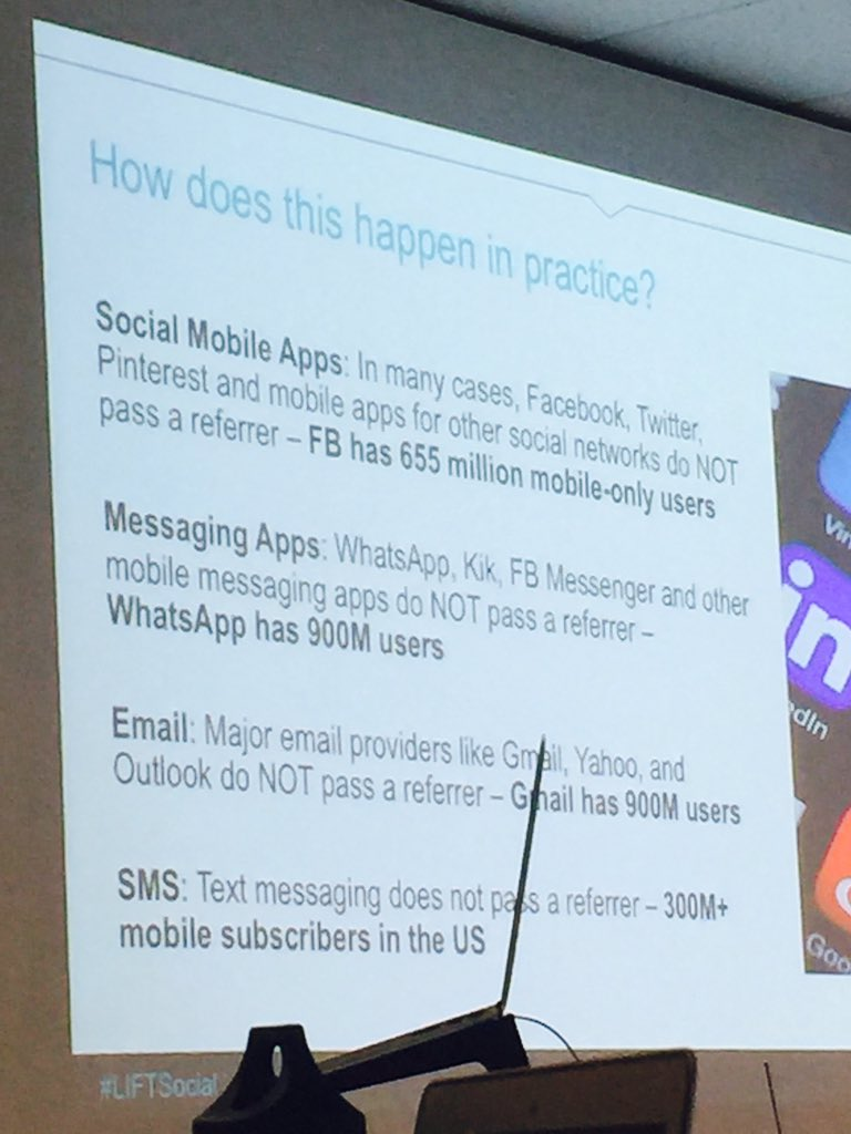 So, how does #darksocial happen in practice? Here's a few ways as shown at #LIFTSocial https://t.co/dVplQMRfvo