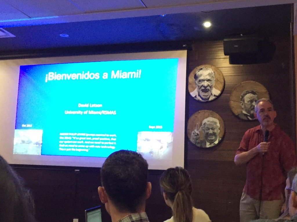 David Letson from @UMiamiRSMAS kicks off #COSEEMIA's science cafe on the economics of #climatechange in #Miami https://t.co/rYeEv7K8c8
