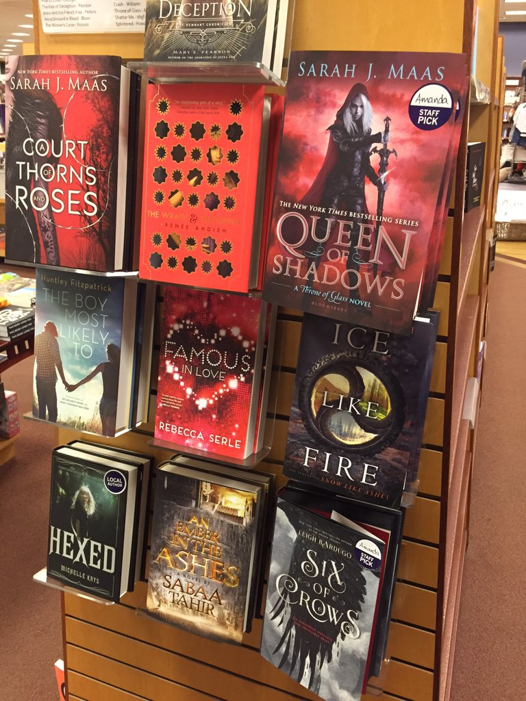 Newest Staff Pick: Six of Crows by @LBardugo and Queen of Shadows by @SJMaas #StaffPickWall https://t.co/NIbDYN2GXi