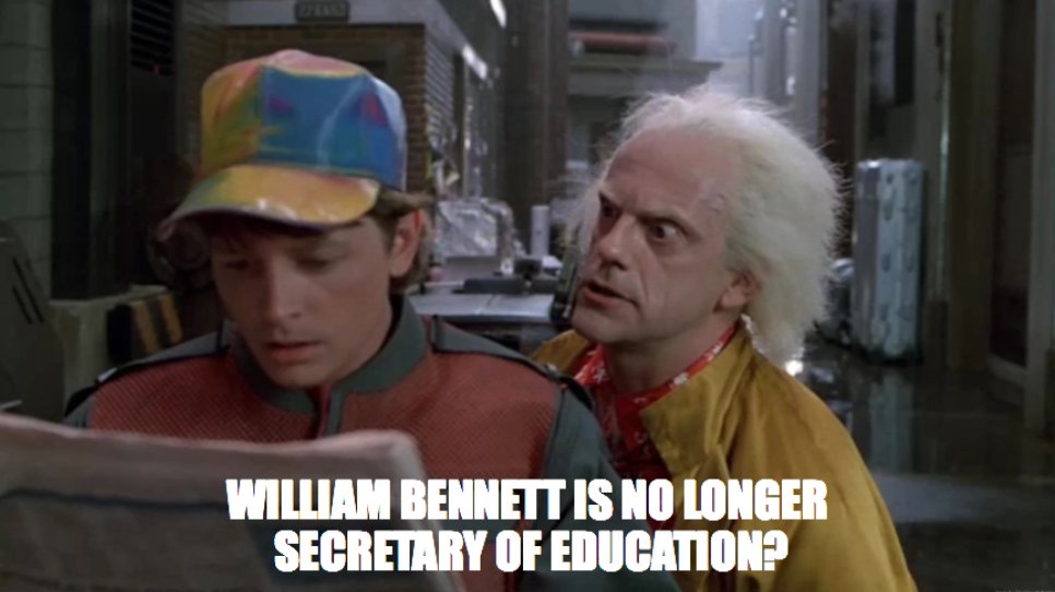 Back to the Future post on Harvard's Graduate School of Education Twitter page