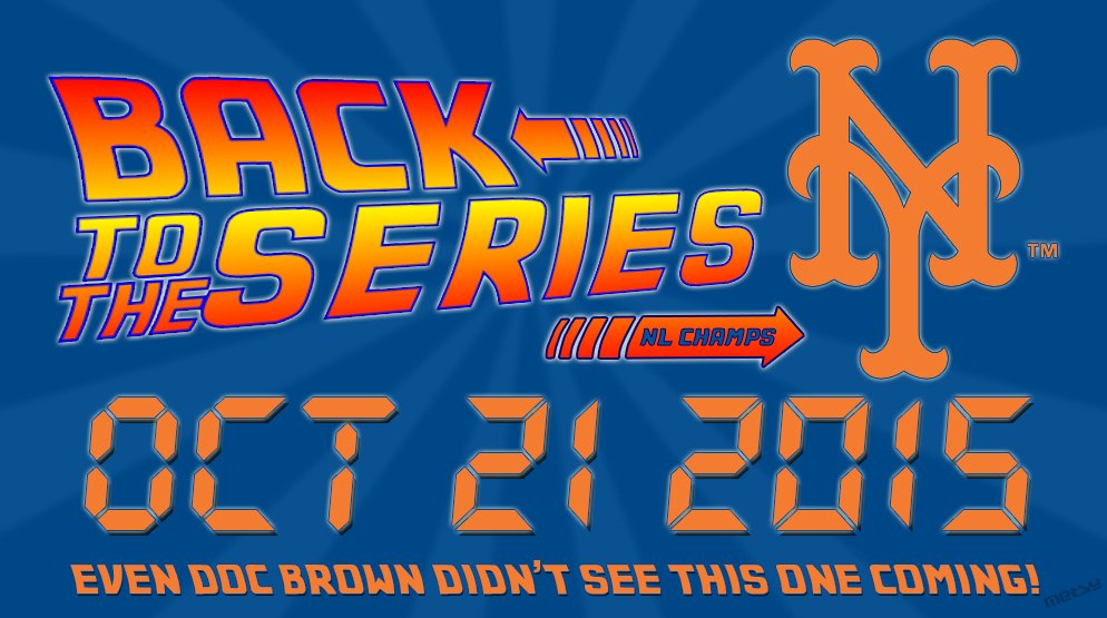 Great Scott! They've done it! We're going back to the series! #Mets #LGM #NLChamps https://t.co/HO9zCGIOTr