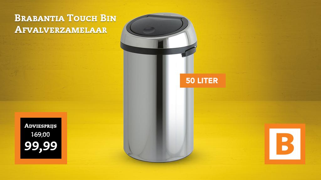 Touch Bin Blokker.Blokker On Twitter De Brabantia Touch Bin 50 Liter Nu Voor Maar