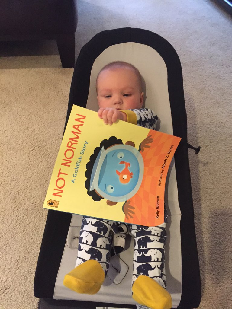 You're never too young and it's never too early for a good page turner. Happy #ReadfortheRecord everyone! #NotNorman https://t.co/pYVf0f1jf1