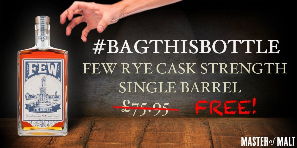 MT @MasterOfMalt: #BagThisBottle! RT + Follow both @MasterOfMalt and @fewspirits to win! https://t.co/crJ3lLEOA6 https://t.co/mQbiM3UxVj