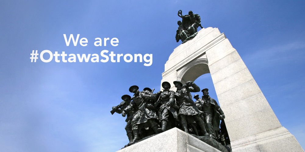 #Ottawa remembers our fallen heroes Cpl. Nathan Cirillo and Warrant Officer Patrice Vincent. We are #OttawaStrong. https://t.co/N2Uc7FndE9