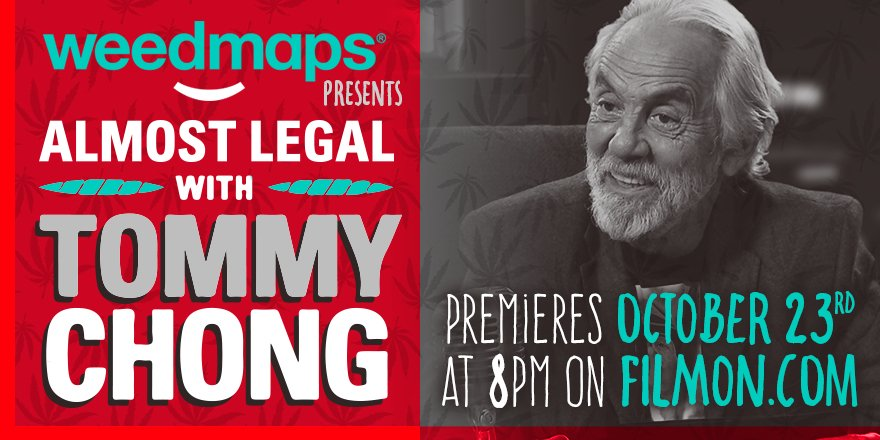 #WM is proud to present a new #highlarious TV show starring @tommychong Oct. 23rd at 8pm on https://t.co/TaEL7Yqeih https://t.co/Ld3oa7NxCW