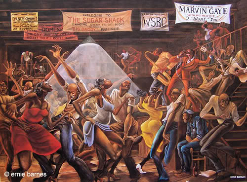 @651ARTS a1. Sugar Shack by Af Am artist Ernie Barnes is an image that I often think of. #classicblack #blackart https://t.co/S6aUPIpO2C