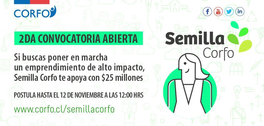 Abierta 2da convocatoria #SemillaCorfo que apoya con $25mm emprendimientos innovadores  https://t.co/70jE6knAbw https://t.co/yOfMD2GF0d