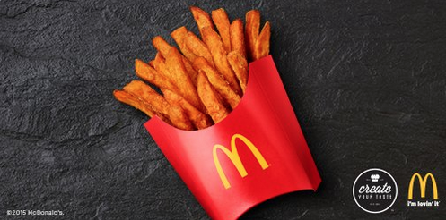 Sweet potato fries have officially arrived at (select) McDonald's: https://t.co/wVcE1jMyzH https://t.co/Q3wlMRPUqU