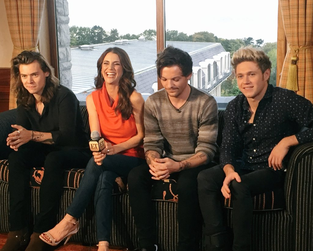 Yes, in #Belfast to intv @onedirection #1D @harry-styles @niallofficial @louis_Tomlinson for @etnow! More to come! https://t.co/4kXNRuvrk3